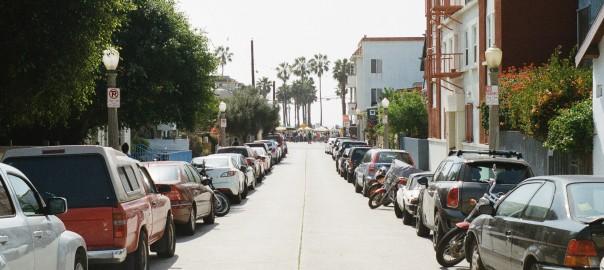 cars parking street